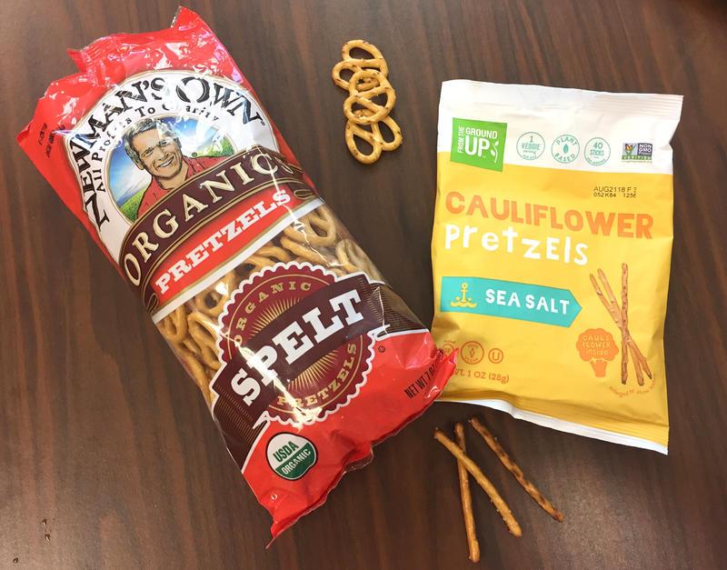 Newman's Own Organic Spelt Pretzels & From The Ground Up Cauliflower Pretzels