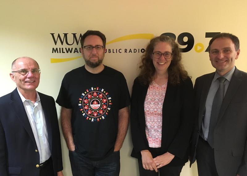Tom Luljak with guests.