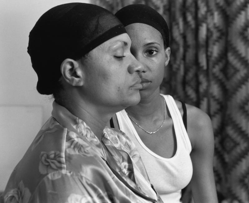 """""""Momme"""" (2008) by LaToya Ruby Frazier is featured in a new art exhibit at Milwaukee Art Museum that explores the ways black photographers and artists have portrayed familial relationships."""