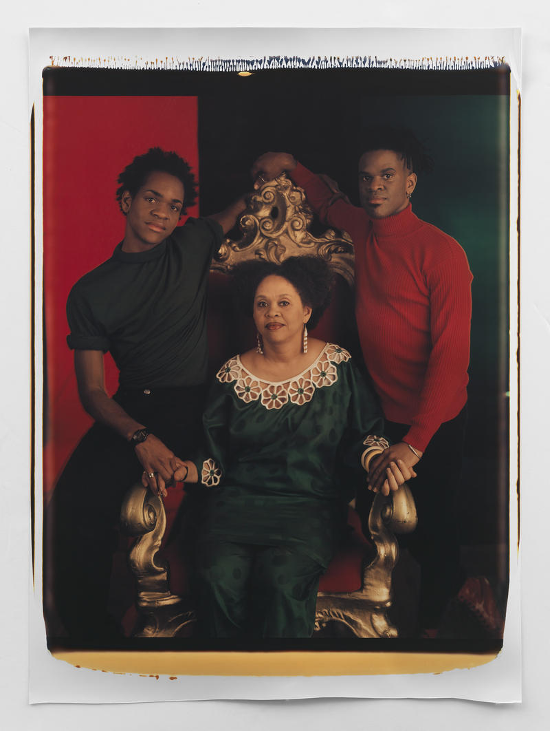 """""""Mother and Sons II"""" (1994) by Lyle Ashton Harris is featured at the exhibit."""