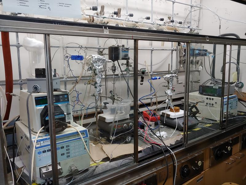 Some of the lab equipment used in fuel cell research at UW-Madison