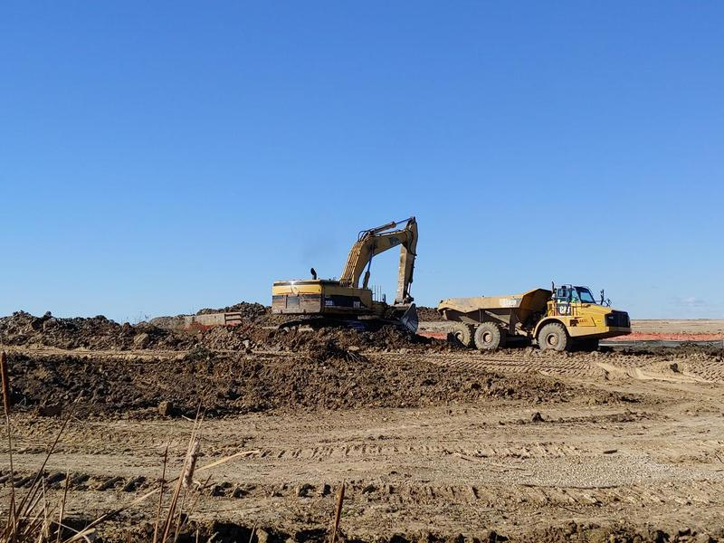 Earthmoving equipment at the Foxconn site in Racine County.