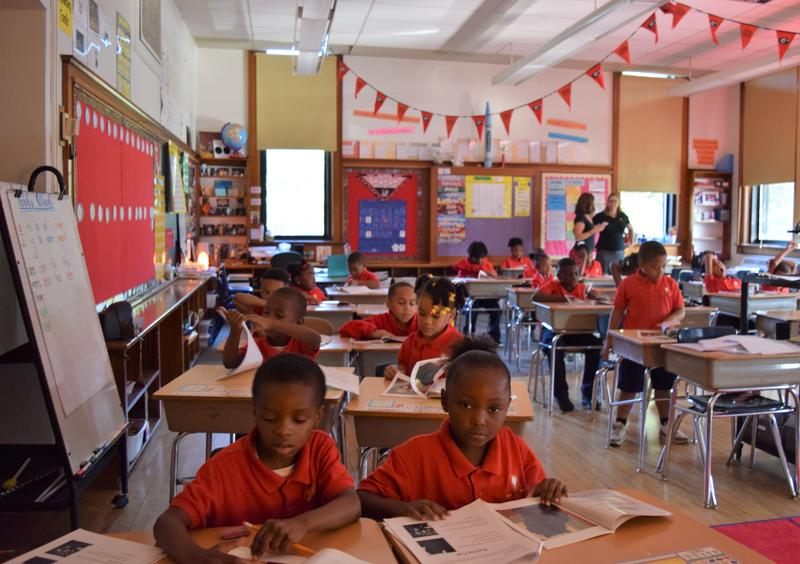First graders at Milwaukee College Prep, a high-scoring MPS charter school.