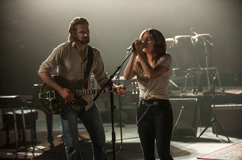 """Bradly Cooper and Lady Gaga play Jackson Maine and Ally in """"A Star Is Born."""""""
