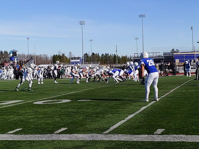 Concordia University of Wisconsin (in blue) takes on Wisconsin Lutheran College on Nov. 10 in Mequon.