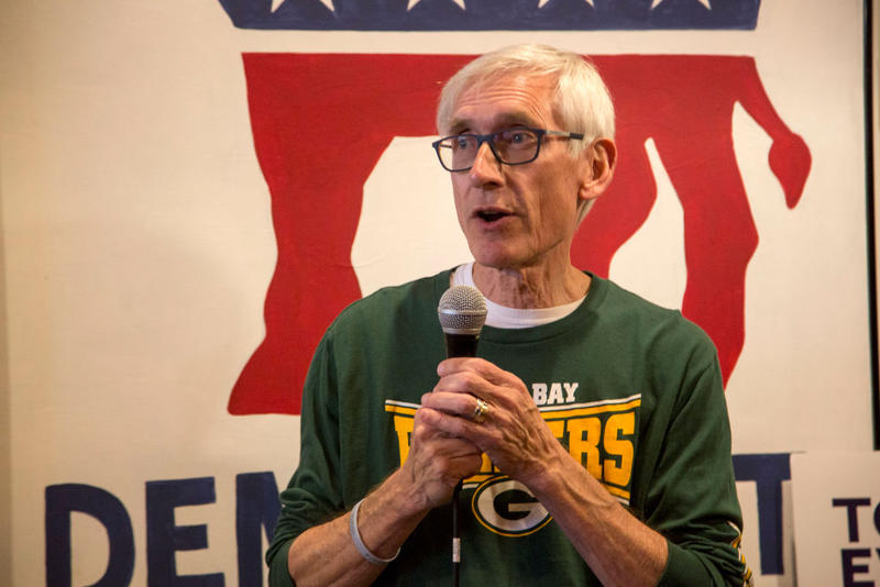 Tony Evers speaks to supporters at the Racine County Democratic office on Nov. 4 in Racine, Wis. Days later he was elected governor of Wisconsin.
