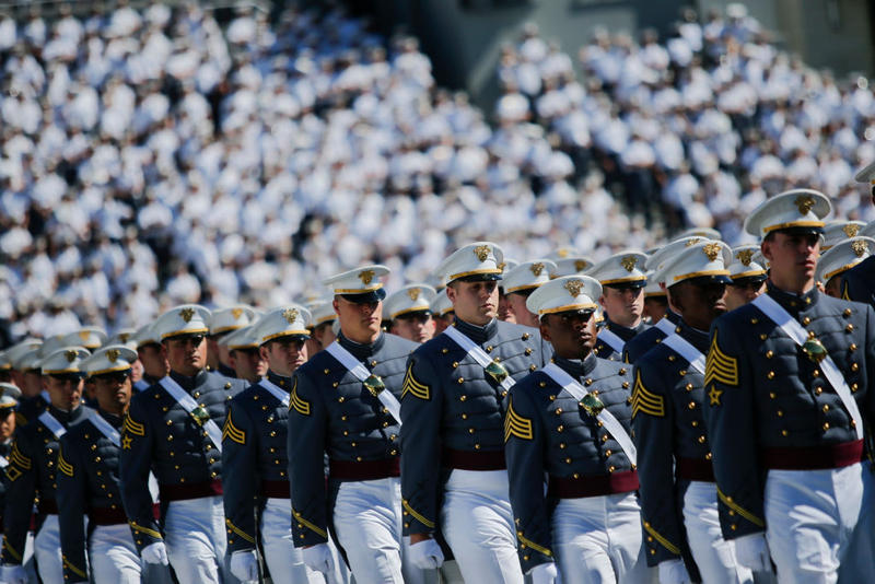 West Point graduates arrive to the U.S. Military Academy Class of 2017 graduation ceremony at Michie Stadium in West Point, NY.