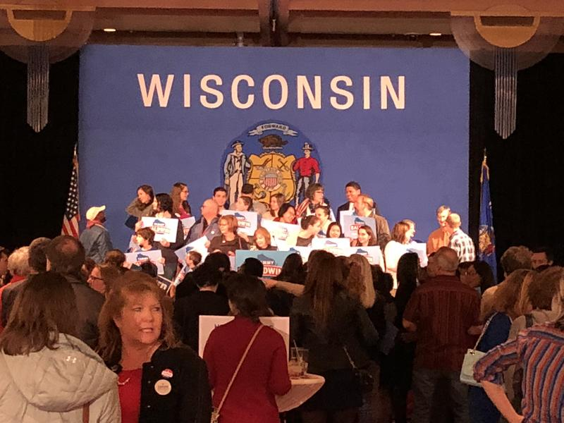 Tammy Baldwin supporters at her victory rally on Nov. 6.