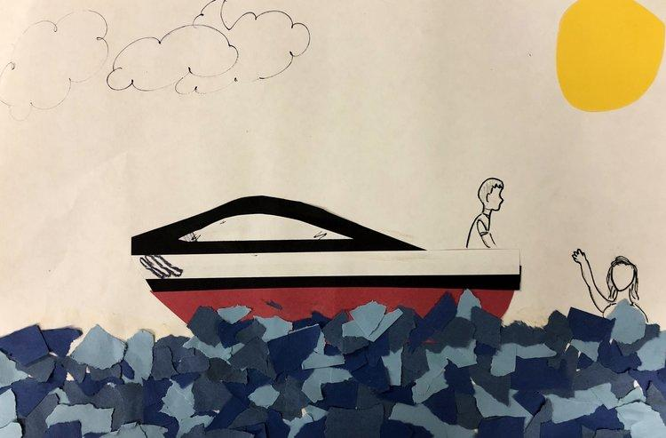 A water-inspired creation from Acosta Middle School student Daisy Montes.