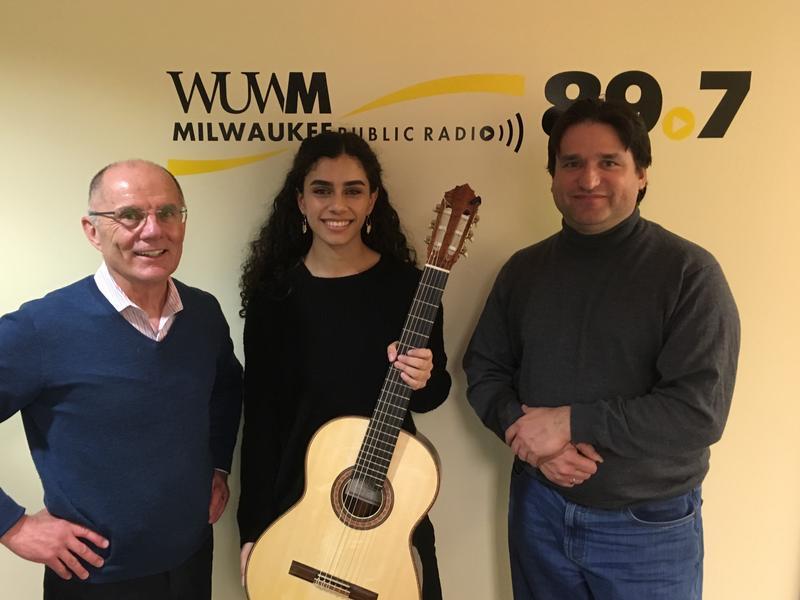 Tom Luljak with Leonela Alejandro (center) and Rene Izquierdo.