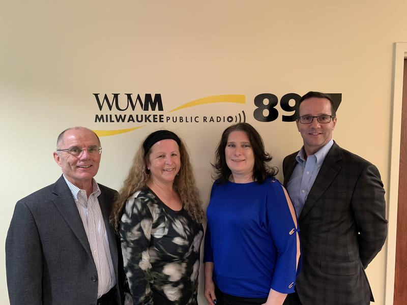 (From left) Tom Luljak with Ellyn Lem, Tricia Wessel-Blaski and Stephen Schmid.