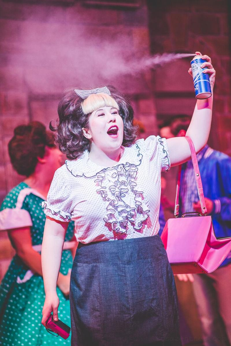 "Maisie Rose (Tracy Turnblad) in rehearsal for Skylight Music Theatre's production of ""Hairspray."""