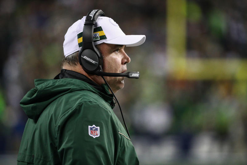 Head coach Mike McCarthy of the Green Bay Packers watches the action in the first quarter against the Seattle Seahawks at CenturyLink Field on Nov. 15 in Seattle, Wash.