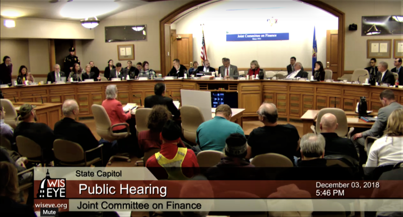 GOP proposals were debated at a lengthy and heated public hearing Monday in Madison.