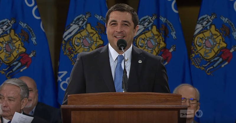Attorney General Josh Kaul at the 2019 Wisconsin inauguration ceremony.