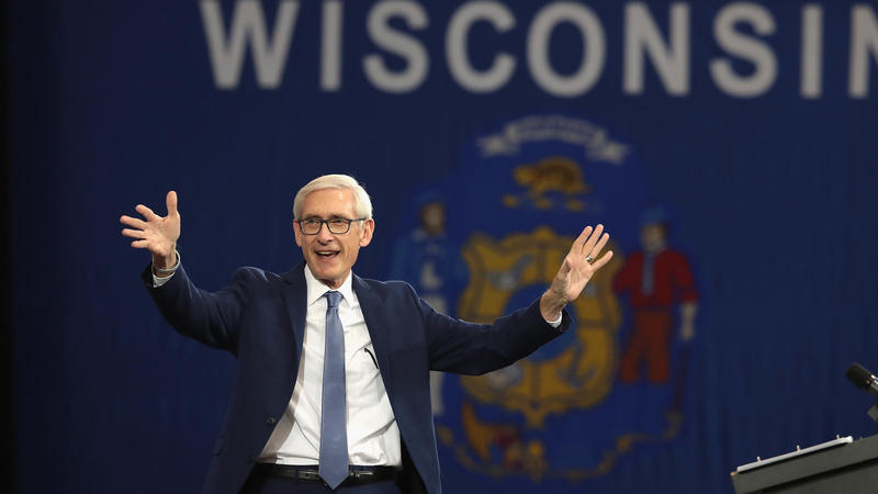Wisconsin Gov.-elect Tony Evers at a rally held by former President Barack Obama before he was elected in the November 2018 midterm elections.