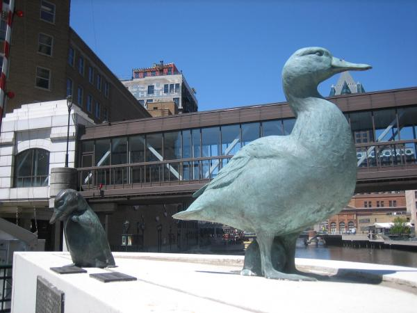 "Milwaukee's ""Gertie the Duck"" statue is one of several local entries in Jerome Pohlen's extensive compendium of unusual tourist destinations."