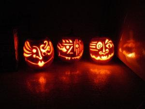 "Some of the ""victims"" of the Madison Mad Pumpkin Carver."
