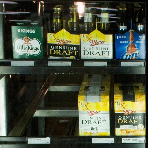 MillerCoors products on the shelf.