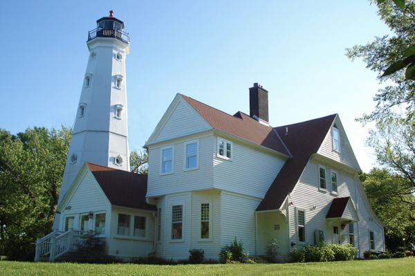 The North Point Lighthouse and Keeper's Quarters