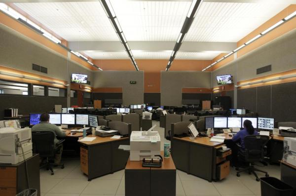 The operations room at Waukesha County Communications