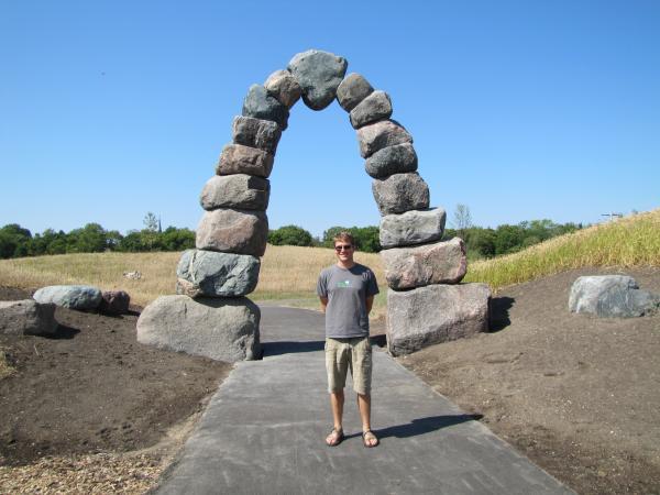 Arboretum project director Aaron Zeleske