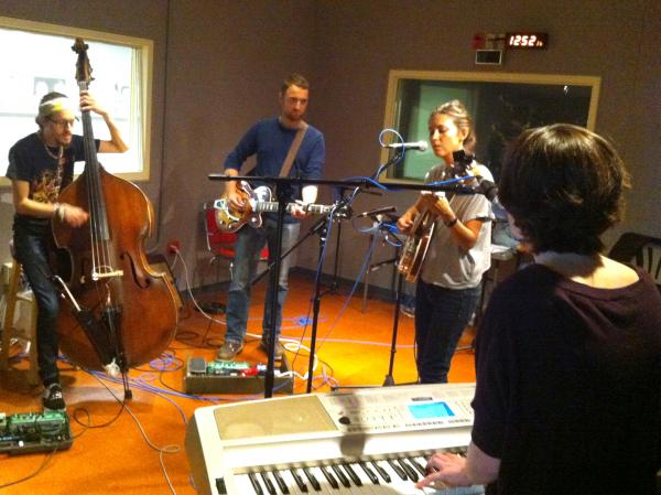 The band Luray performs in Lake Effect's Studio C1.