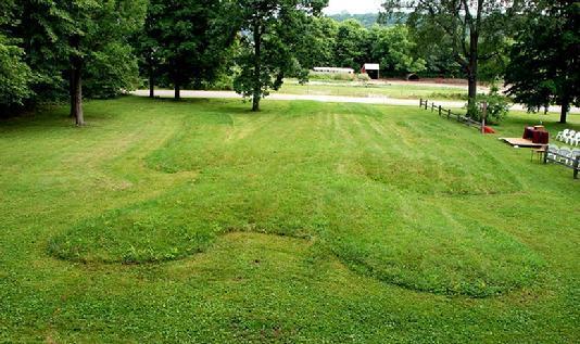 Wisconsin's Man Mound is singular among effigy mounds.