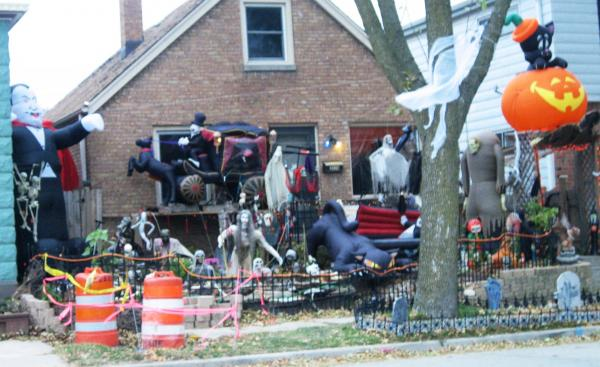 Halloween-filled house in Bay View