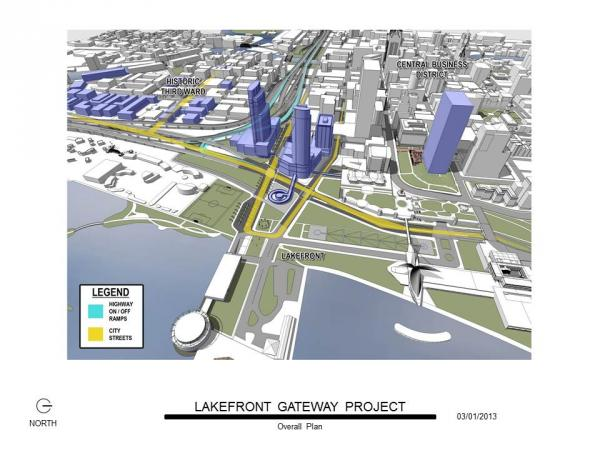 The Lakefront Gateway will revamp access between the lakefront and Third Ward