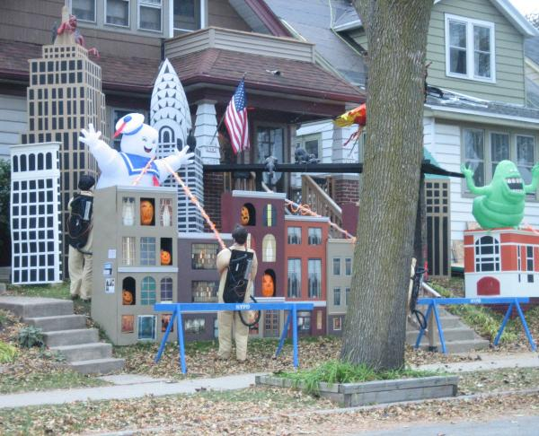Ghostbusters house in Bay View