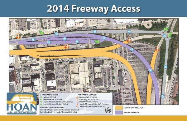 The Hoan Bridge and I-794 work will take place in two phases, each lasting one year
