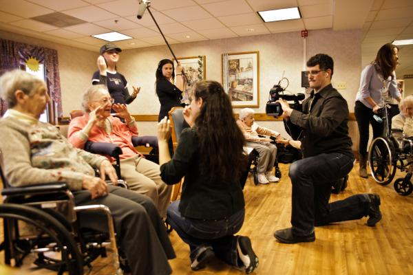 """Professional actors worked with Luther Manor residents with dementia to prepare the play """"Finding Penelope."""" A documentary captured the collaborative process."""