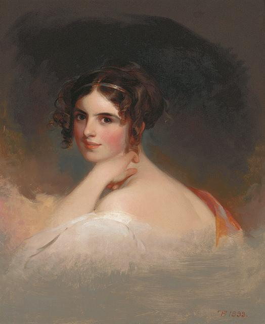 """Thomas Sully's 1833 """"Frances Anne Kemble as Beatrice"""", part of the Sully retrospective at the Milwaukee Art Museum."""