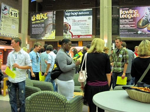 Students participate in an event at UWM's student union.