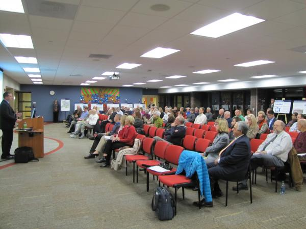 Eighty people gathered at Carroll University Center for Graduate Studies to learn more about Waukesha's proposed diversion.