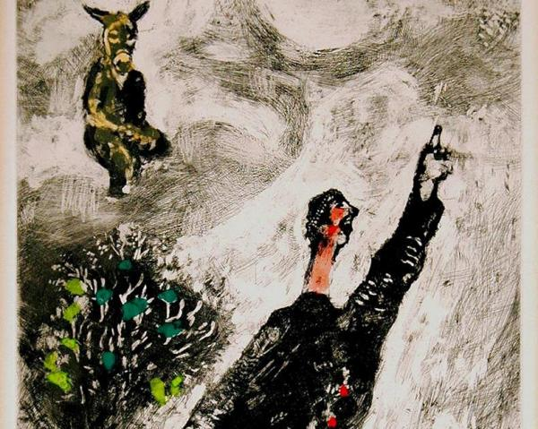 A piece by Marc Chagall on exhibition at the UWM Art History Gallery