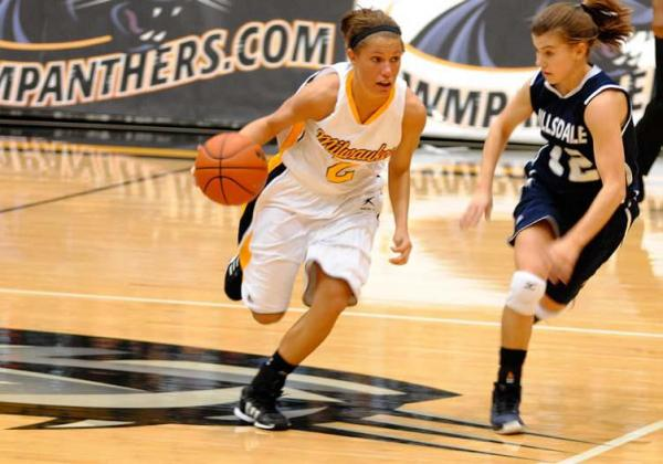 Co-captain Kimee Chandler is one of three seniors on the UWM Panthers women's basketball team.