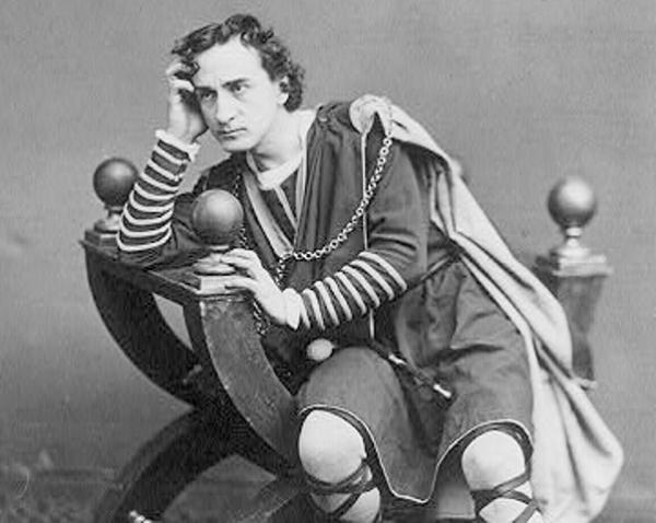 Edwin Booth as Hamlet, circa 1870