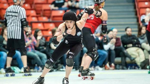 Sandrine Rangeon skates for the Windy City Rollers roller derby team, but is also hoping to make the Olympics in 2018 as a short-track speedskater.