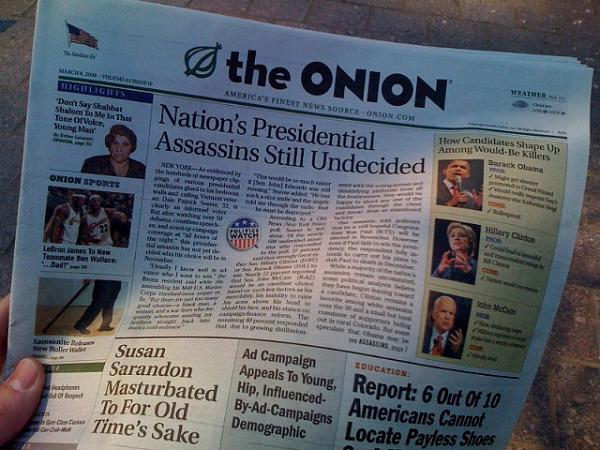 The Onion will stop publishing print editions, like this one, in Milwaukee and two other markets next month.