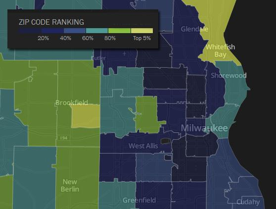 Southeastern Wisconsin's richest residents live less than 10 miles away from its poorest.