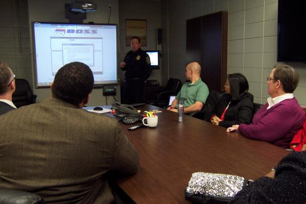 Fire and police commissioners met Wednesday to discuss the police department's plate scanning system.