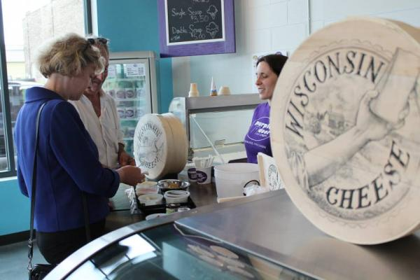 Purple Door Ice Cream currently shares a space with Clock Shadow Creamery.