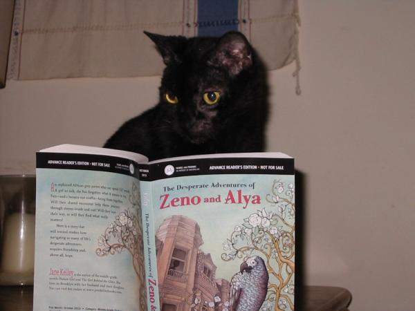 It may be about a parrot, but even Jane Kelley's cat enjoys her new novel for young readers.