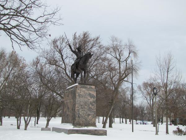 The restoration of the General Thaddeus Kosciuszko monument was celebrated on Veterans Day 2013.