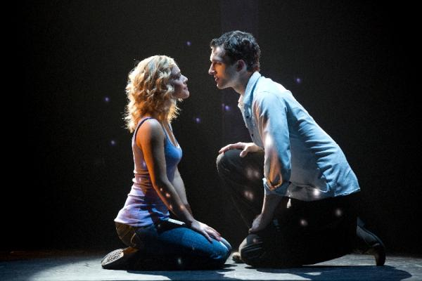 """Greendale native Katie Postotnik, with Steven Grant Douglas, stars in the national tour of """"Ghost the Musical."""""""