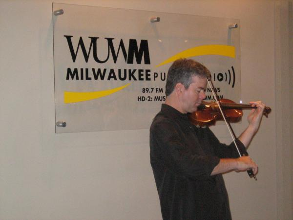 Frank Almond performs with his Stradivarius violin in WUWM's studios, in 2008.