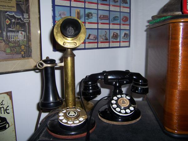 Pat Carew's favorite piece in his telephone collection is his Western Electric candlestick phone circa 1900 (left).