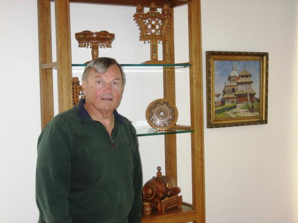 The Nedilsky home holds Ukrainian crafts and art and lately, news articles about tensions in the country.